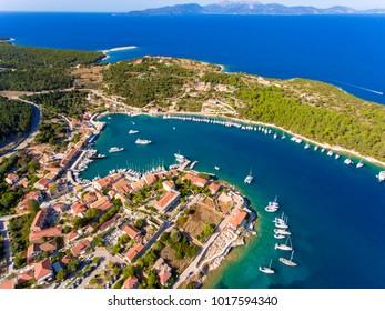 The bay of Fiskardo in Cephalonia Island, Greece (Fiscardo)