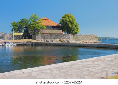 Bay and fortress Kristiansholm. Kristiansand, Norway