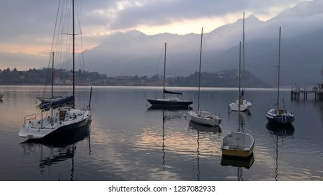 The Bay in front of the town of Lecco