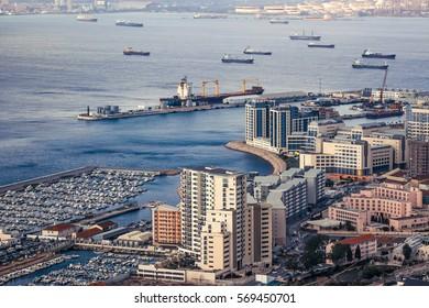 Bay of Gibraltar and Gibraltar Town