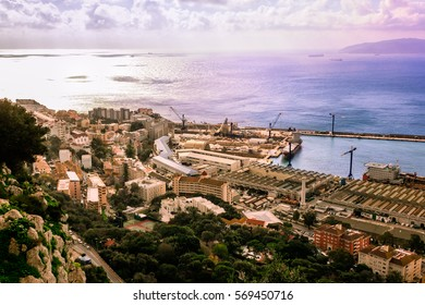 Bay of Gibraltar and Gibraltar Town