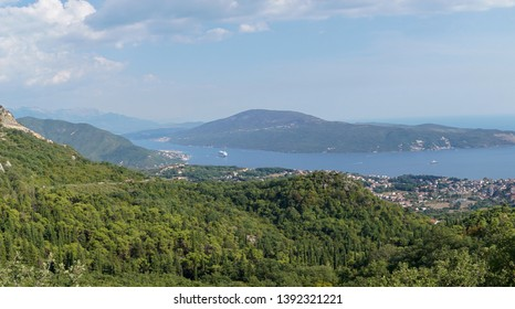Bay of kotor at the adriatic sea, Kotor city, Montenegro