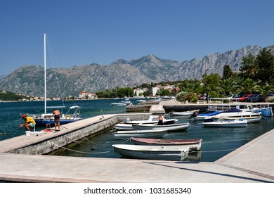 Bay of Kotor or Boka Kotorska, is the largest Adriatic bay between Montenegro and Croatia. The Bay of Kotor is sometimes called Europe's southernmost fjord. It's a popular place for cruise liners.