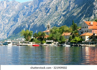 Bay of Kotor, Montenegro. Kotor. Old town view. Adriatic sea