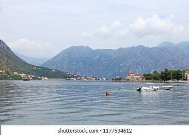 Bay of Kotor sea and mountains landscape Montenegro