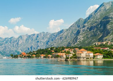 Bay of Kotor. A small European town on the Adriatic coast, Montenegro, Balkans. Vacations in Europe
