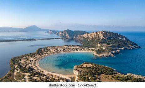 bay landscape in greece peloponnese