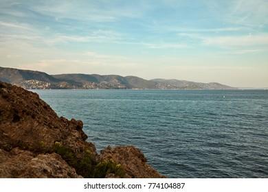 Bay of Le Lavandu, France druing summer