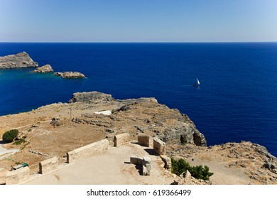 Bay of the Lindos town. Rhodes. Greece.
