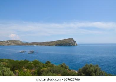 Bay near Porto Palermo castle, Albania