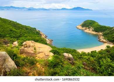 A bay on Cheung Chau island, Hong Kong