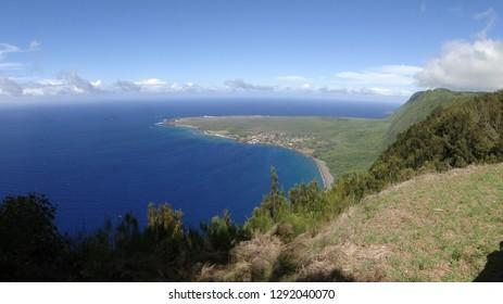 A bay on the island of Molokai