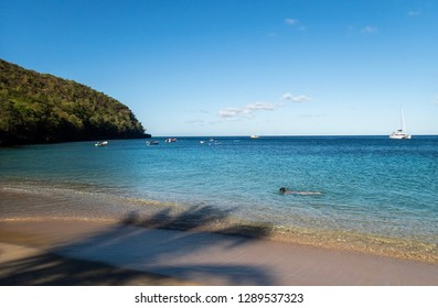bay on Martinique island. Caribbean bay.