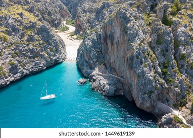 the Bay of Sa Calobra in Mallorca