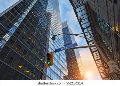 Bay Street - hub of Toronto Financial life