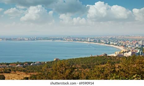 The bay of Sunny beach resort, Bulgaria