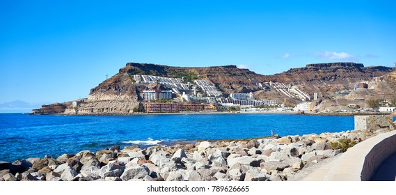 Bay of Tauro and Cura Beach in Gran Canaria in Spain / Beach not far from Playa del Ingles