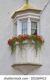 Bay window at a house in South Tyrol