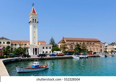 Bay of Zante town on Zakynthos island, Greece