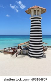 BAYAHIBE, DOMINICAN REPUBLIC - JULY 27, 2017: Lighthouse by the sea