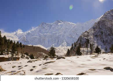 """""""Bayal Camp""""on autumn.this camp can see """"Nanga Parbat peak""""The 9th highest mountain in the wold or called """"Killer Mountain"""".snowcaped mountains in Diamer,northern Pakistan."""