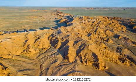 Bayanzag, Flaming Cliffs From Above, Mongolia, Asia