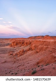 Bayanzag Flaming Cliffs, Gobi Desert, Mongolia