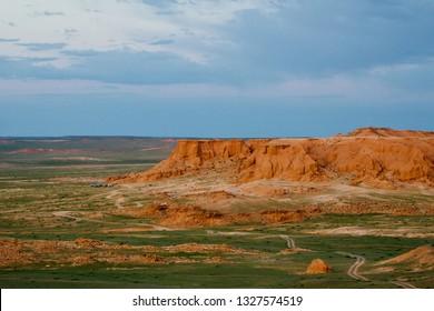 Bayanzag Flaming cliffs, Mongolia, Asia