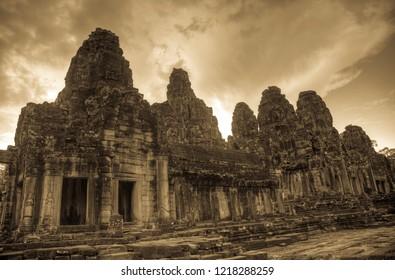 Bayaon temple in Cambodia