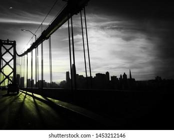 baybridge sunset California USA abstract