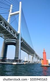 Baybridge at Yokohama harbor in japan