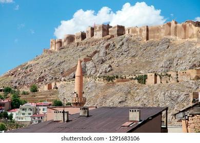 Bayburt, Turkey - 07/15/2016: View of the Bayburt Castle.