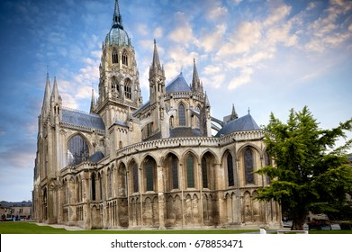 Bayeux medieval Cathedral of Notre Dame, Calvados department of Normandy, France