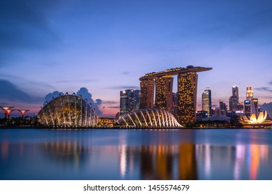 Bayfront/Singapore- 07/06/2019  photo from Marina Bay Sands in Singapore