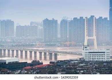 the bayi bridge in nanchang,China