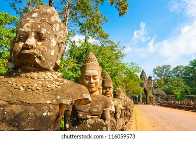 Bayon statue,siem reap ,Cambodia, was inscribed on the UNESCO World Heritage List in 1992.