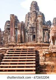 Bayon temple. the ancient stone temple