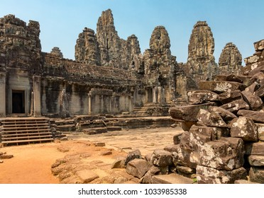 Bayon TempleAngkorSiem ReapCambodiaFebruary 24, 2018Bayon, one of the temples within the Angkor complex