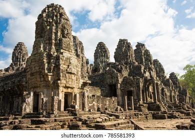 Bayon temple at Angkor Thom, Siam Reap, Cambodia.