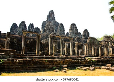 Bayon temple in Angkor Thom in Siem reap, Cambodia