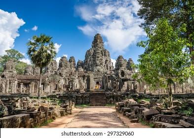Bayon temple in Angkor Thom, Siemreap, Cambodia
