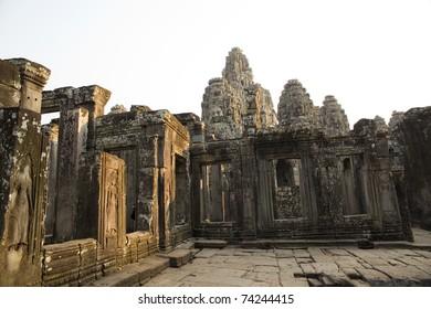 Bayon Temple at Angkor Thom,Siem Reap,Cambodia