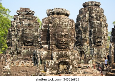 Bayon temple at Angkor Wat complex, Siem Reap, Cambodia