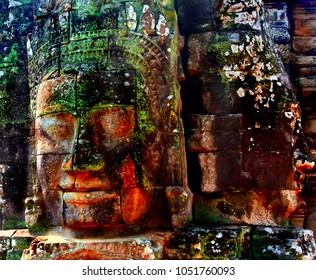 Bayon Temple in Angkor,Cambodia