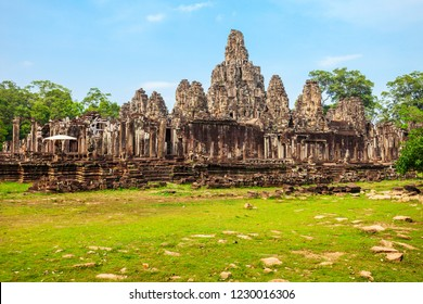 Bayon is a well known khmer temple at Angkor in Cambodia