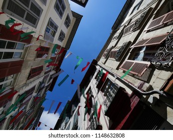Bayonne. view from a street to the sky.