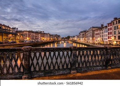 BAYONNE,FRANCE - OCTOBER 12, 2015 - In the streets of Bayonne. Bayonne is located at the confluence of the Nive and Adour rivers in the northern part of the cultural region of Basque Country