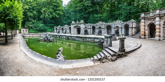 BAYREUT, GERMANY - CIRCA JULY, 2018: The Eremitage at Bayreuth, Germany, with park and sculptures