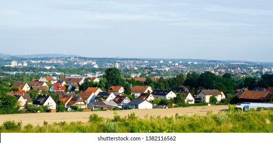 Bayreuth city panorama in Bavaria. Germany