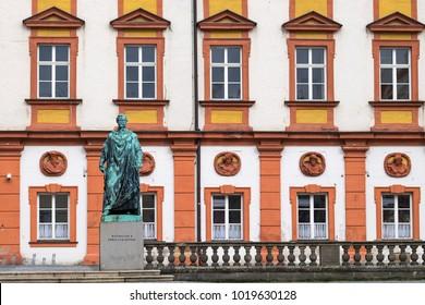 BAYREUTH, GERMANY - 05.02.2018 : Bavarian Town Bayreuth, Maximilian II king of Bavaria
